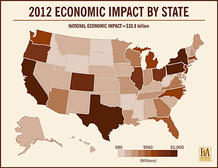 2012 Economic Impact by State